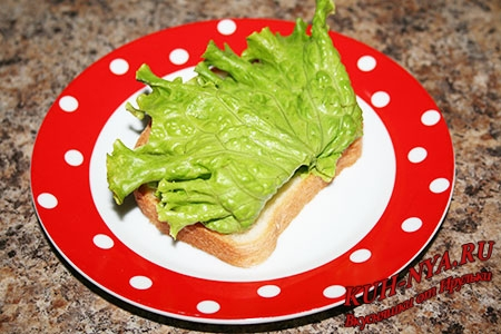 Сэндвич с индейкой, овощами и домашним майонезом