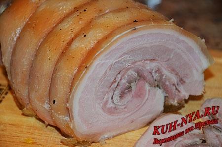 Рулет из свиной брюшины (подчеревок, пашина)