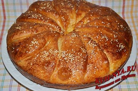 Сербский белый хлеб «Погачице»