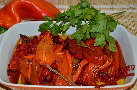 Запеченный болгарский перец по-итальянски