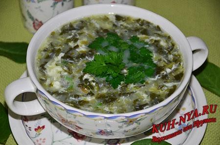 Щавелевый суп с яйцом kuh-nya.ru