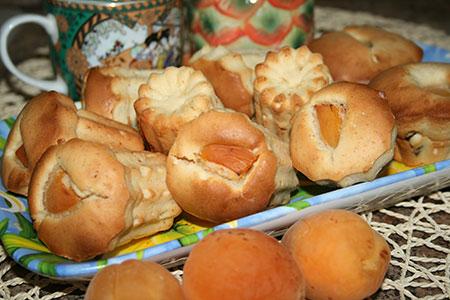 Ванильные маффины с абрикосами