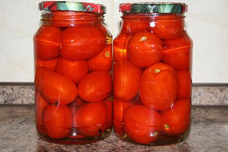 Помидоры, маринованные в яблочном соке