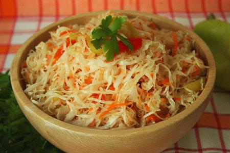 Рецепт приготовления капусты с морковью