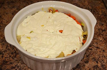 Печень по- купечески, в горшочках с овощами
